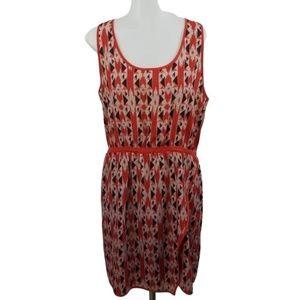 Collective Concepts Dress M Blouson Orange Stripe
